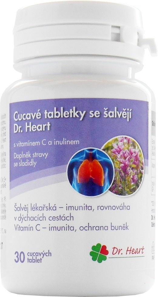 Cucavé tablety se šalvějí Dr. Heart
