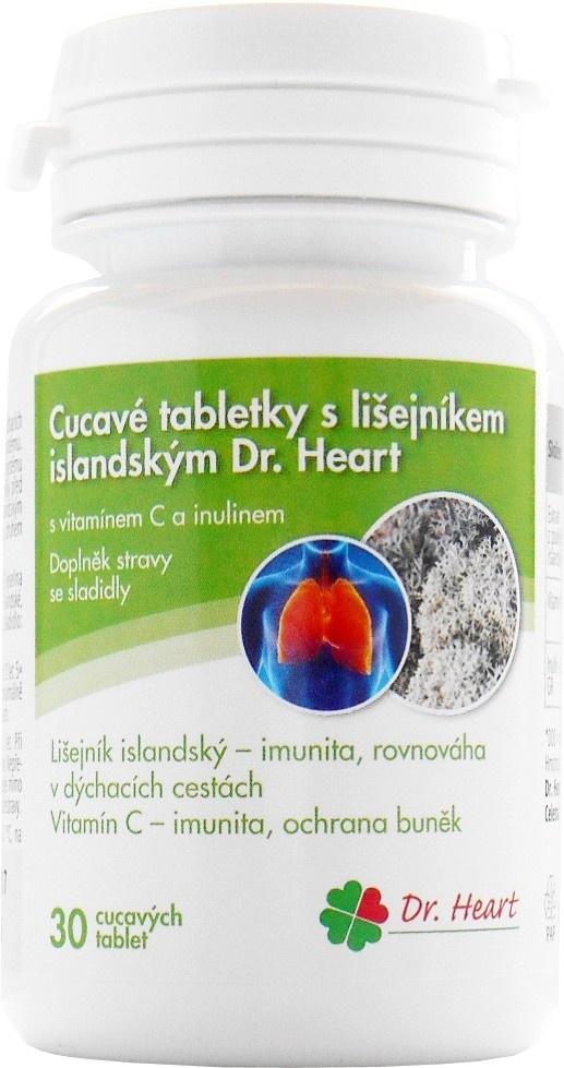 Cucavé tablety s islandským lišejníkem Dr. Heart